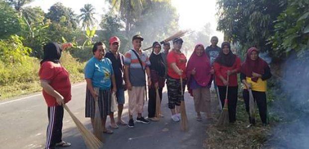 Persiapan Penilaian Kabupaten Sehat, Molompar Utara Gelar Bersih Bersih Lingkungan