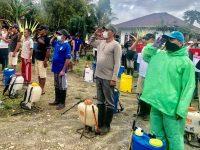 Sukses Tebar Disinfektan, Camat Fabian: Kita Harus Terapkan Physical Distancing Cegah Corona