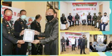 Ketua DPRD Djemmy Sundah Ikut Upacara HUT Bhayangkara ke 74 di Tomohon