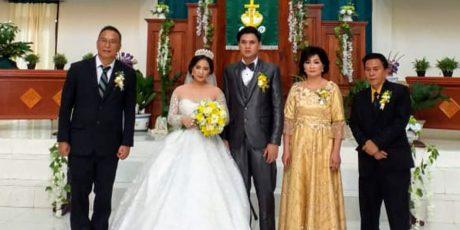 Jimmy Eman Jadi Saksi Pernikahan di GMIM Baitani Matani