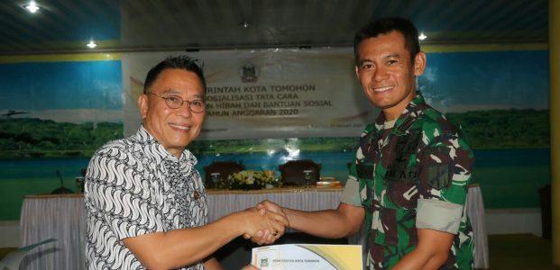 Wali Kota Tomohon dan Dandim 1302/Minahasa Teken Perjanjian Hibah